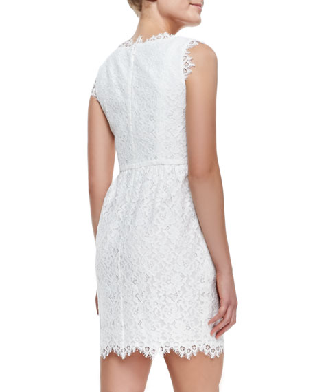 Sierra Scallop-Trim Lace Dress