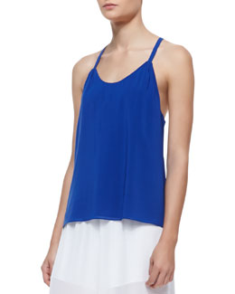 Alice + Olivia Loma Waterfall Drop Racerback Tank Top