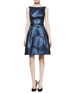Theia Sleeveless Full-Skirt Party Dress