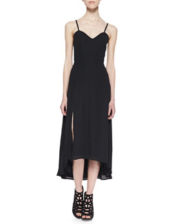 Naven Heartthrob High-Low Maxi Dress, Black
