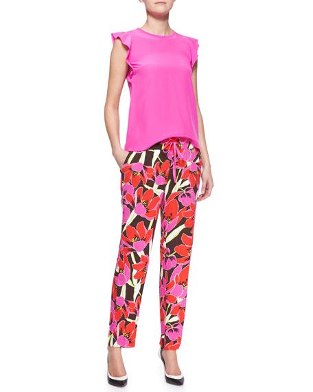 hutton tropical-print lounge pants