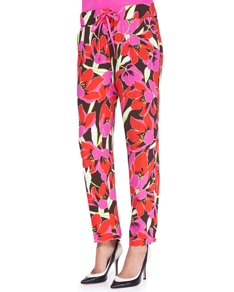 hutton tropical-print lounge pants