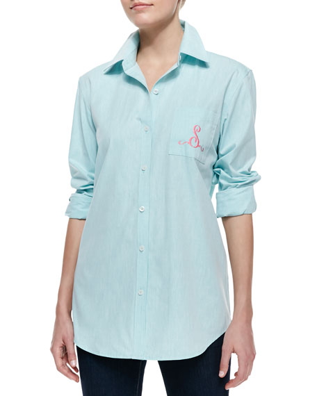 Monogram Fitted Oxford Shirt