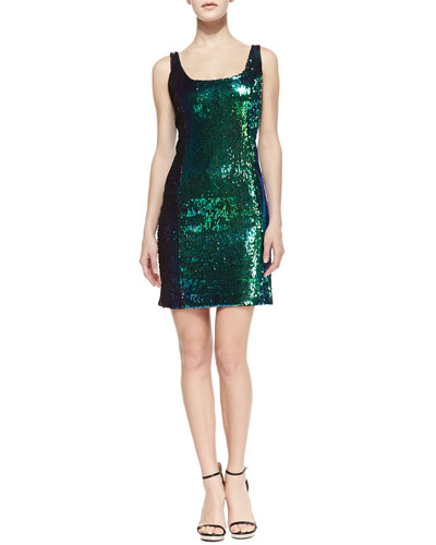 Milly Anna Sequin Tank Cocktail Dress