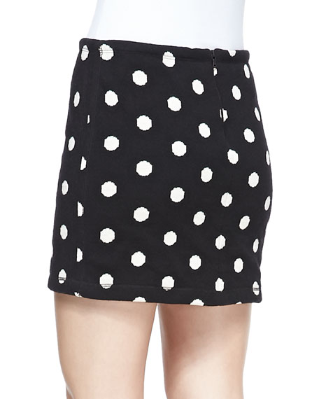 Elana Dotted Slim Miniskirt
