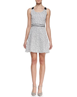 MARC by Marc Jacobs Heather Jacquard Scoop-Neck Dress