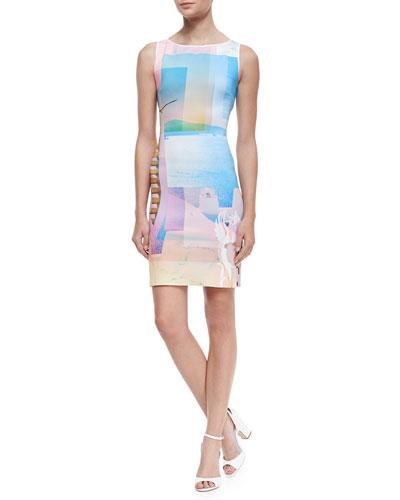 Clover Canyon Greek Dream Knit Back-Cutout Dress