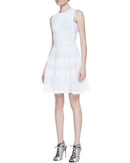 M Missoni Rib-Stitch Fit-and-Flare Dress