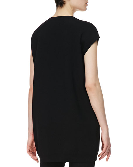 Manga Bunny Jacquard Knit T-Shirt, Black/White