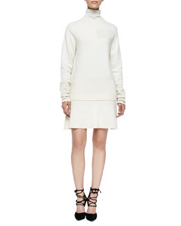 McQ Alexander McQueen Wool Patchwork Dress, Gray