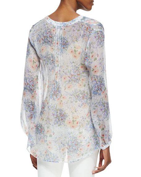 Martine C Floral-Print Long-Sleeve Blouse