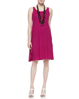 Eileen Fisher Organic Cotton Hemp Twist Sleeveless Dress, Petite