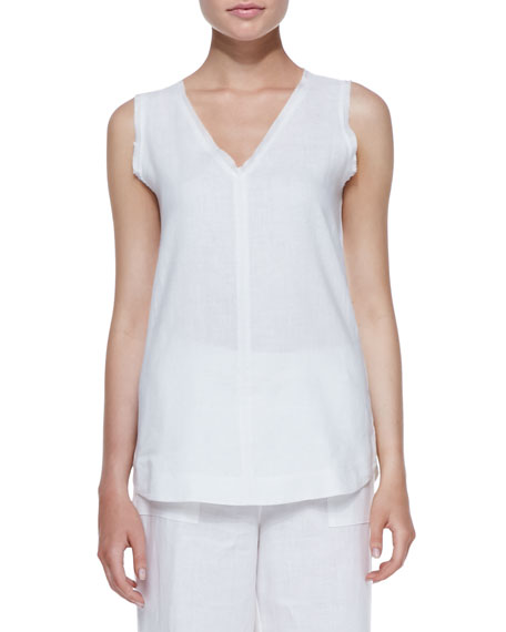 Silicon Washed Linen Tank Top