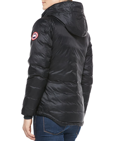 Camp Hooded Puffer Coat, Black