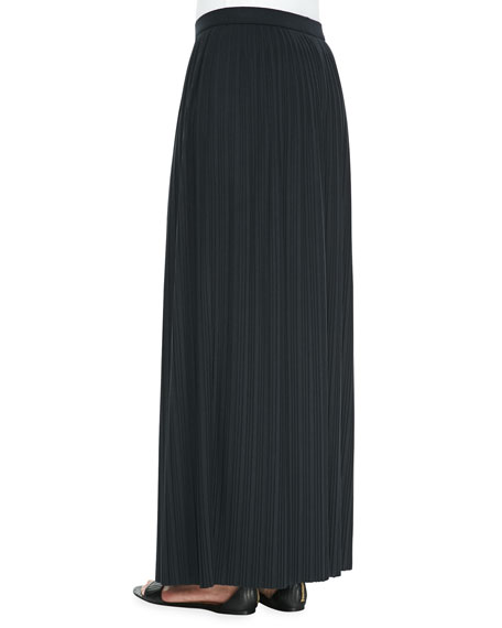 Long Pleated Skirt