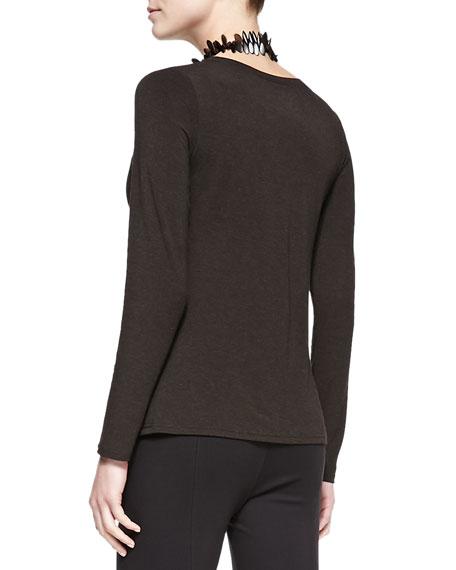 Long-Sleeve-Slim-Jersey Top