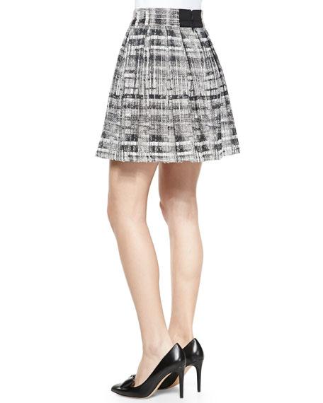 Kayla Printed Box Pleat Skirt