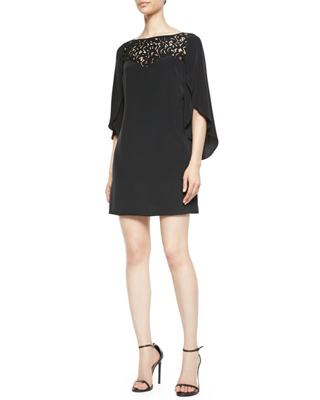 Kiera Butterfly-Sleeve Dress
