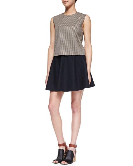 Merlock Pleated Short Skirt
