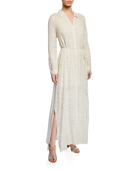 Johnny Was CollectionGeorgette Button-Front Long Dress