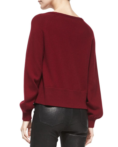 Dauphine Arch-Hem Knit Sweater