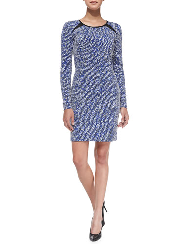 Shoshanna Brooklyn Twill Jacquard Minidress