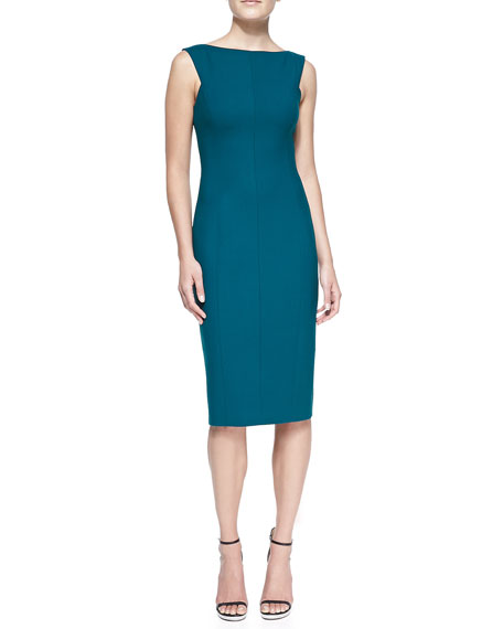 Double-Face Wool Sheath Dress