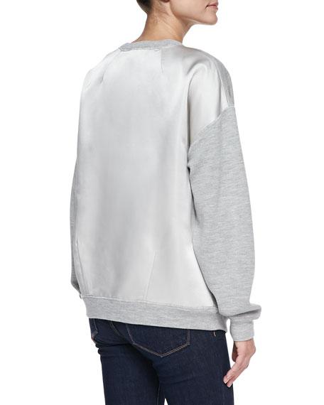 Satin-Back Sweatshirt