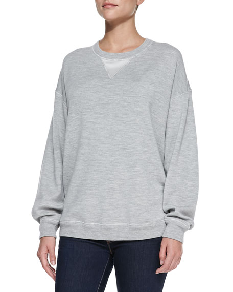 Jason Wu Satin-Back Sweatshirt