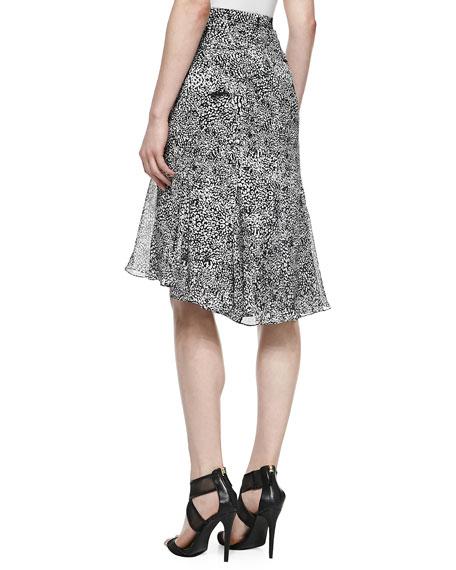 Jacquard Godet Skirt