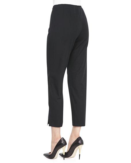Organic Stretch Twill Slim Ankle Pants, Plus Size