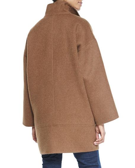 Double-Face Alpaca Cocoon-Shape Coat