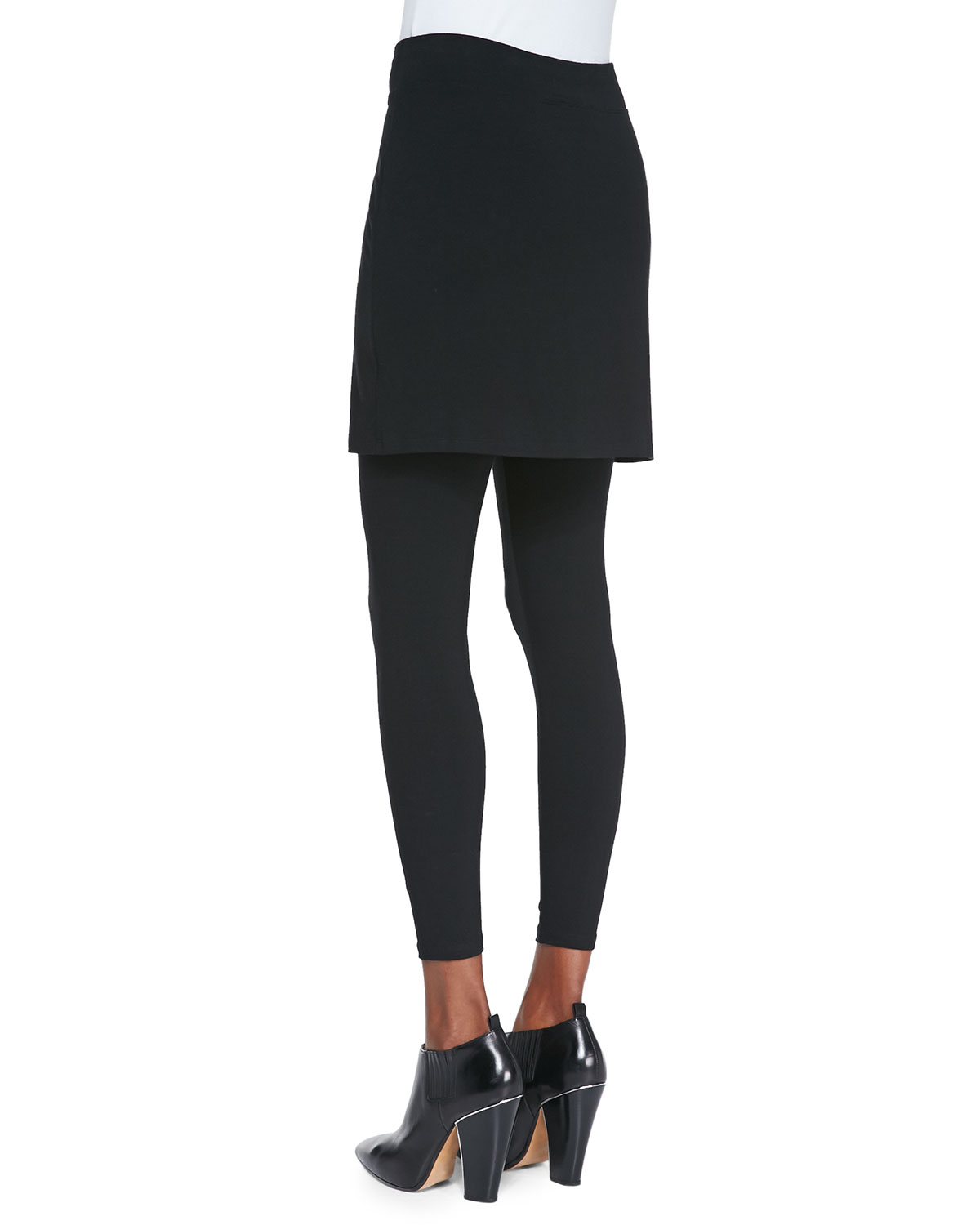 fc8328bcbbe08 Eileen Fisher Skirted Ankle Leggings, Plus Size | Neiman Marcus