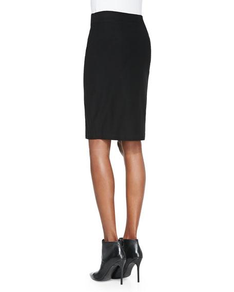 Washable Stretch Crepe Pencil Skirt, Petite