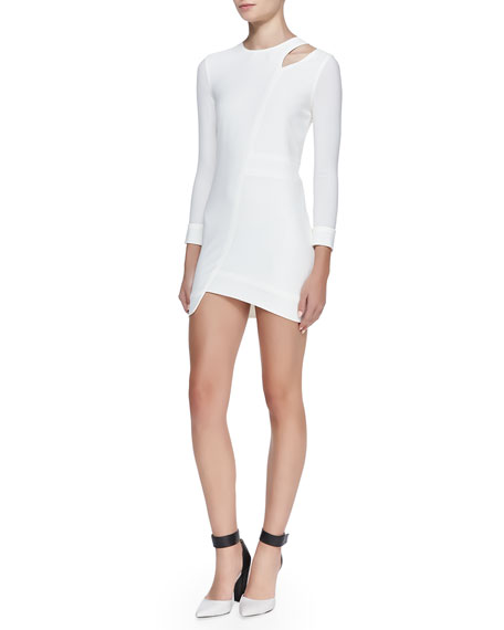 Polina Mesh/Crepe Combo Dress