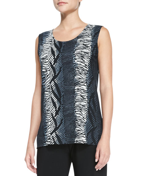 Tribal-Stripe Tank Top, Women's