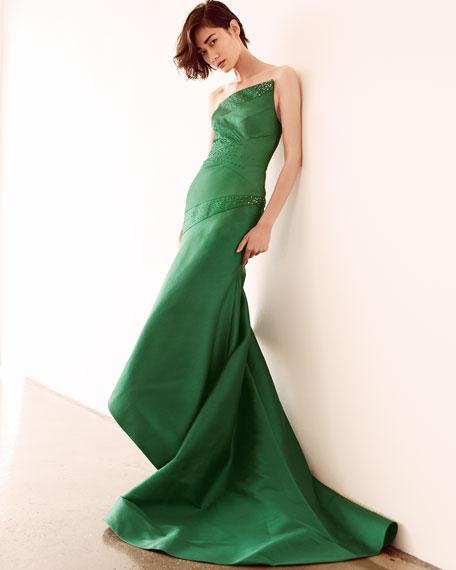 One-Shoulder Trumpet Gown