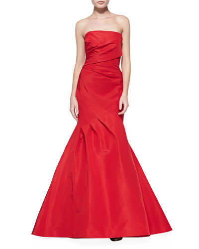 Draped Ruched Mermaid Gown