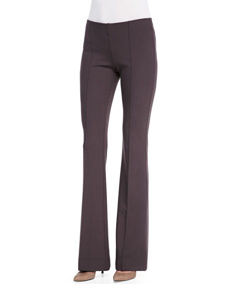 Minnie Rose Seamed Flared-Leg Pants