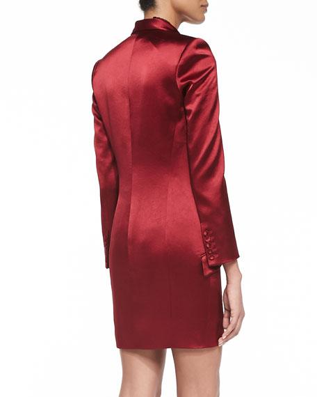 Satin Tuxedo-Blazer Dress