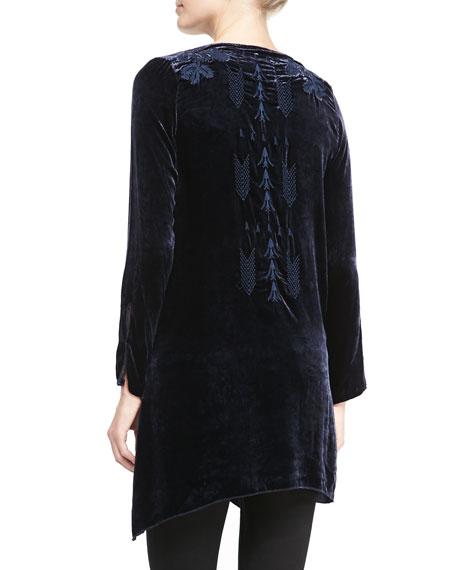 Holland Embroidered Velvet Tunic
