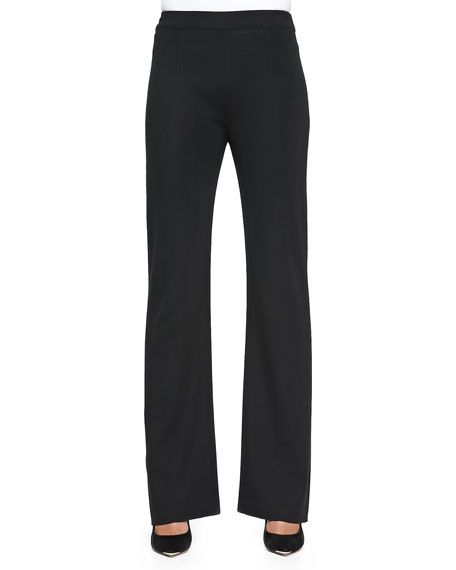 Misook Casey Boot-Cut Pants, Black, Plus Size