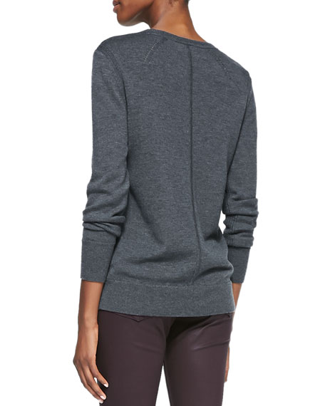 Natalie Wool Sweater, Charcoal