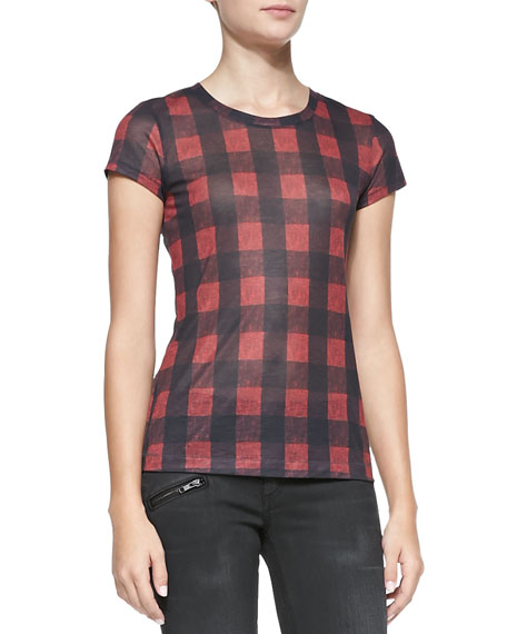 Buffalo Check Short-Sleeve Tee