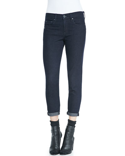 Vince Mason Relaxed Rolled-Cuff Jeans