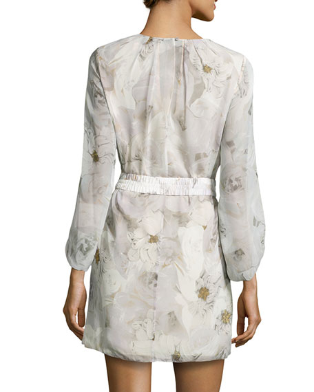 Davina Floral-Print Shift Dress, Mural Roses
