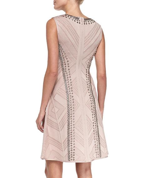 Jaclyn Textured Chain-Trim Dress