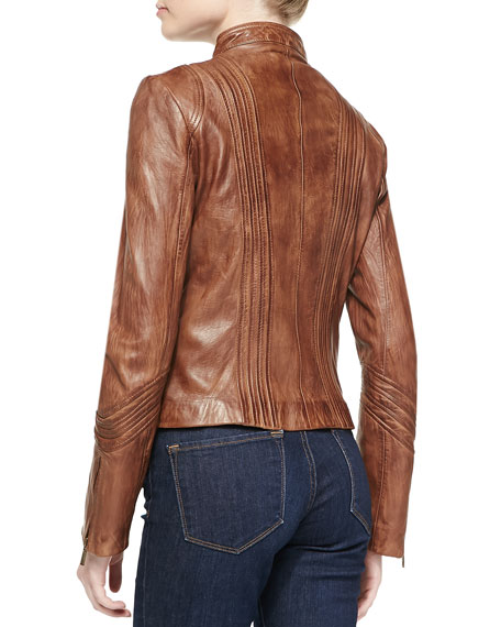 Montana Leather Jacket with Chest Pockets