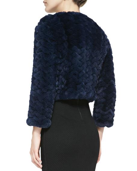 Marlene Zigzag Fur Jacket