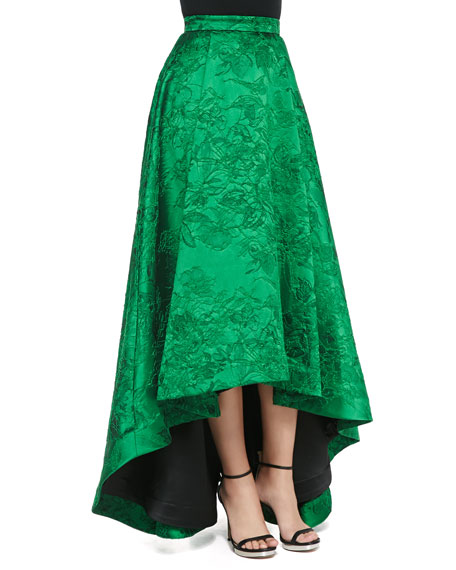 Cohe Embroidered High-Low Long Skirt